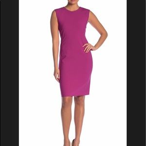 Theory Power Dress in Vivid Fuchsia. Size 0. NWT.